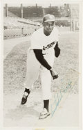Baseball Collectibles:Photos, 1951-53 Satchel Paige Signed Postcard. ...