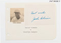 Baseball Collectibles:Others, 1950's Jackie Robinson Signed Cut. ...