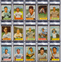 Autographs:Sports Cards, Signed 1954 Bowman Baseball PSA/DNA Authentic Near Set (188/224)....