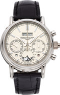Timepieces:Wristwatch, Patek Philippe Very Fine Ref. 5204p-001 Perpetual Calendar WithSplit-Seconds Chronograph, Day/Night Indication. ...