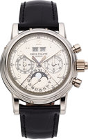 Featured item image of Patek Philippe Ref. 5004P-021 Exceptional And Rare Platinum Perpetual Calendar Split Seconds Chronograph With Moon Phases  ...