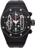 Timepieces:Wristwatch, Audemars Piguet Rare Royal Oak Concept Carbon TourbillonChronograph. ...