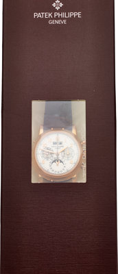 Patek Philippe Fine & Very Rare Unused Ref. 5004R Perpetual Calendar Split Seconds Chronograph With Moon Phases...