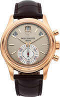 Timepieces:Wristwatch, Patek Philippe Very Fine Ref. 5960R-001 Rose Gold Automatic AnnualCalendar Flyback Chronograph With Power Reserve Indicator...