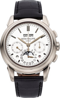 Patek Philippe Ref. 5270G Fine & Very Rare White Gold Perpetual Calendar Chronograph With Moon Phases, Leap Year And...