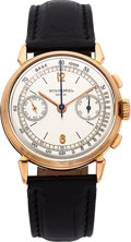 Timepieces:Wristwatch, Patek Philippe & Co. Ref. 1579 Rare Rose Gold VintageChronograph Wristwatch, circa 1946. ...