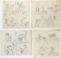 Original Comic Art:Miscellaneous, Harvey Eisenberg Yogi Bear Daily Comic Strip Preliminary OriginalArt Group of 13 (McNaught Syndicate, c. 1960s).... (Total: 13Original Art)
