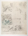 Original Comic Art:Miscellaneous, Sheldon Mayer - Batman Unpublished Story Preliminary ArtworkOriginal Art (DC, 1970s)....