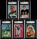 Football Cards:Lots, 1952-55 Bowman Football SGC Graded Collection (5)....