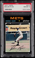 Baseball Cards:Singles (1970-Now), 1971 Topps Nolan Ryan #513 PSA NM-MT 8....