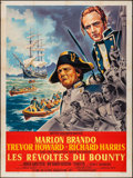 "Movie Posters:Adventure, Mutiny on the Bounty (MGM, 1962). French Grande (47"" X 63"") &Lobby Cards (2) (11"" X 14""). Adventure.. ... (Total: 3 Items)"