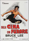 "Movie Posters:Action, The Chinese Connection (Titanus, 1973). Italian 2 - Fogli (39.25"" X55.5""). Action.. ..."