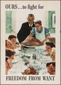 """Movie Posters:War, World War II Propaganda by Norman Rockwell (U.S. Government Printing Office, 1943). OWI Poster No. 45 (40"""" X 56""""). War.. ..."""