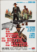 """Movie Posters:Western, The Good, the Bad and the Ugly (PEA, R-1968). Italian 2 - Fogli(39.25"""" X 55""""). Western.. ..."""