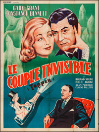 """Topper (MGM, R-1950s). French Grande (47"""" X 63""""). Comedy"""