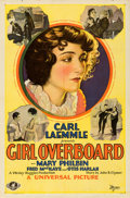 "Movie Posters:Drama, Girl Overboard (Universal, 1929). One Sheet (27"" X 41"").. ..."