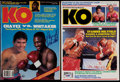 Boxing Collectibles:Autographs, Evander Holyfield & Pernell Whitaker Single Signed KO Magazines(2). ...