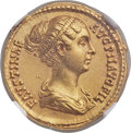 Ancients:Roman Imperial, Ancients: Faustina Junior, daughter of Antoninus Pius, wife ofMarcus Aurelius (Augusta, AD 149-175/6). AV aureus (19mm, 7.04 gm,5h). N...