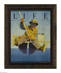 Prints:American, MAXFIELD PARRISH (American 1870 - 1966). Fisherman, 1921. LIFE,August 25. Period print on paper. 10.75 x 8in.. ...