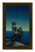 Prints:American, MAXFIELD PARRISH (American 1870 - 1966). Stars, 1927. Period printon paper (The House of Art, N.Y.). 9.75 x 6in.. ...