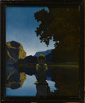 Prints:American, MAXFIELD PARRISH (American 1870 - 1966). Evening, 1922. PeriodPrint. 12 x 15in.. Initials lower right. Provenance: Private ...