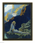Prints:American, MAXFIELD PARRISH (American 1870 - 1966). Wild Geese, 1924. Periodprint on paper. 14.75 x 11.5in.. Signature lower right. ...