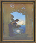 Prints:American, MAXFIELD PARRISH (American 1870 - 1966). Circe's Palace, 1908.Period print on paper. 11 x 8.75in.. ...