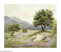 Paintings, MAE BARBEE (American). Violet Landscape. Oil on canvas board. 20 x 24in.. Signed lower right. ...