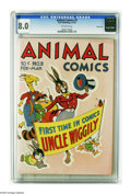 Golden Age (1938-1955):Funny Animal, Animal Comics #2 Carson City pedigree (Dell, 1943) CGC VF 8.0Off-white pages. Uncle Wiggily begins in this issue. Overstree...