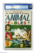 Golden Age (1938-1955):Funny Animal, Animal Fables #1 (EC, 1946) CGC VF+ 8.5 Off-white pages. FreddyFirefly (clone of the Human Torch), Korky Kangaroo, Petey Pi...