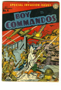 Golden Age (1938-1955):War, Boy Commandos #4 (DC, 1943) Condition: VG+. World War II cover byJoe Simon and Jack Kirby. Overstreet 2005 VG 4.0 value = $...