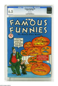 Golden Age (1938-1955):Miscellaneous, Famous Funnies #75 (Eastern Color, 1940) CGC FN+ 6.5 White pages. This is currently the highest grade awarded by CGC for thi...