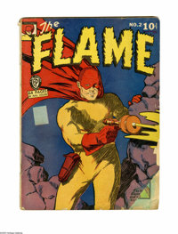 The Flame #2 (Fox, 1940) Condition: FR. Lou Fine art. Features Wing Turner by George Tuska. Slightly brittle. Overstreet...