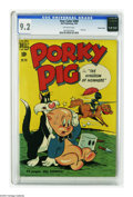 """Golden Age (1938-1955):Miscellaneous, Four Color #284 Porky Pig -- Crowley pedigree (Dell, 1950) CGC NM- 9.2 Off-white pages. Porky the Pig in """"The Kingdom of Now..."""