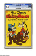 """Golden Age (1938-1955):Cartoon Character, Four Color #352 Crowley Copy pedigree (Dell, 1951) CGC VF/NM 9.0 Off-white pages. Featuring Walt Disney's Mickey Mouse in """"T..."""