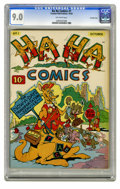 Golden Age (1938-1955):Funny Animal, Ha Ha Comics #1 Crowley Copy pedigree (ACG, 1943) CGC VF/NM 9.0Off-white pages. Funny animal stories. This is currently the...