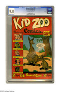 "Golden Age (1938-1955):Funny Animal, Kid Zoo Comics #1 ""D"" Copy pedigree (Street & Smith, 1948) CGCVF/NM 9.0 Off-white to white pages. Funny Animal stories. Ove..."