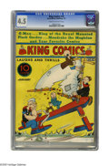 Platinum Age (1897-1937):Miscellaneous, King Comics #10 (David McKay Publications, 1937) CGC VG+ 4.5 Creamto off-white pages. Joe Musial cover. This is currently t...