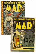 Magazines:Mad, Mad #1-2 Group (EC, 1952-53) Condition: Average FR. Included areissue #1 of the long-running humor title, as well as #2 (Ca...(Total: 2 Comic Books)