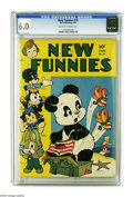 Golden Age (1938-1955):Funny Animal, New Funnies #76 (Dell, 1943) CGC FN 6.0 Off-white to white pages.Andy Panda story with art by Carl Barks. Woody Woodpecker/...