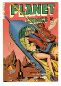 Golden Age (1938-1955):Science Fiction, Planet Comics #65 (Fiction House, 1951) Condition: VF-. Art by Lee Elias, Graham Ingels, George Tuska, and George Appel. Ove...