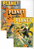 Golden Age (1938-1955):Science Fiction, Planet Comics Group (Fiction House, 1946-48) Condition: VG+.Includes #42 (last Gale Allen feature), 48 (robot cover), and 5...(Total: 3 Comic Books)