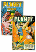 Golden Age (1938-1955):Science Fiction, Planet Comics #46 and 49 Group (Fiction House, 1947) Condition:Average Qualified VG/FN. Includes #46 and 49. Artists includ...(Total: 2 Comic Books)
