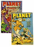 Golden Age (1938-1955):Science Fiction, Planet Comics #55 and 68 Group (Fiction House, 1948-52). Includes#55 (GD/VG) and 68 (VG/FN). Featured artists include Lily ...(Total: 2 Comic Books)