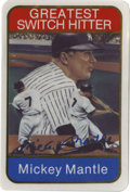 Autographs:Sports Cards, Mickey Mantle Single Signed Ceramic Card. In 1986 SportsImpressions distributed this special ceramic card. The card isnum...