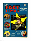 Golden Age (1938-1955):Non-Fiction, Real Fact Comics #4 (DC, 1946) Condition: FN. Virgil Finlay art.Jimmy Stewart and Jack London stories, one-page Joe DiMaggi...