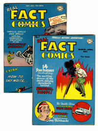 Real Fact Comics #7 and 9 Group (DC, 1947). Featuring art by Simon & Kirby and George Roussos. Includes #7 (Douglas...