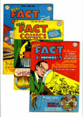 Golden Age (1938-1955):Non-Fiction, Real Fact Comics Group (DC, 1948-49). Includes #14 (Will Rogersstory, FN/VF), 15 (nuclear explosion cover, Clyde Beatty sto...(Total: 3 Comic Books)