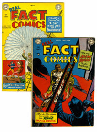Real Fact Comics #20 and 21 Group (DC, 1949). Joe Kubert art is featured in both #20 (Daniel Boone story, VF+) and 21 (K...