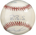 Autographs:Baseballs, 40/40 Club Multi-Signed Baseball with Alex Rodriguez, Barry Bonds and Jose Canseco. Three of the most lauded batsmen from ...